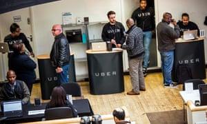 Uber's London driver service centre