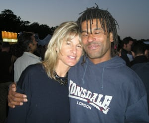 Decca Aitkenhead and partner Tony at a festival in Hackney, north London, in 2007