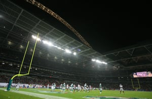 A packed Wembley gets its first taste of NFL