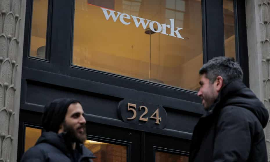 WeWork's business model, based on short-term revenue agreements and long-term loan liabilities, has faced investor skepticism.