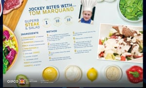 Jockey Bites with Tom Marquand, a recipe for Steak and Salad.