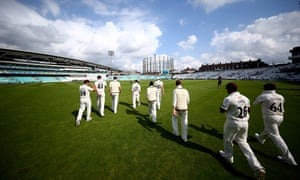 Surrey, who beat Notts by an innings and 125 runs, are strolling their way to the Division One title.