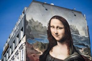 Berlin, Germany A copy of Leonardo da Vinci's Mona Lisa