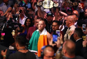 Boxing: Mayweather vs McGregorAug 26, 2017; Las Vegas, NV, USA; Conor McGregor arrives for his boxing match against Floyd Mayweather Jr. at T-Mobile Arena. Mandatory Credit: Mark J. Rebilas-USA TODAY Sports