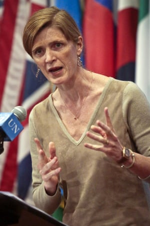 Samantha Power, the US ambassador to the UN.