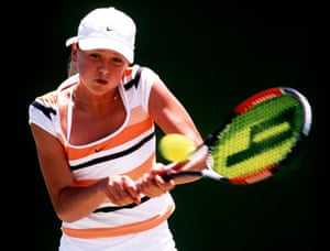 In January 2002 Sharapova was aged 14 years and 9 months when she became the youngest girl ever to reach the final of the Australian Open junior championship which she lost to Barbora Strycova. Two months later she played in her first WTA tournament, the Pacific Life Open