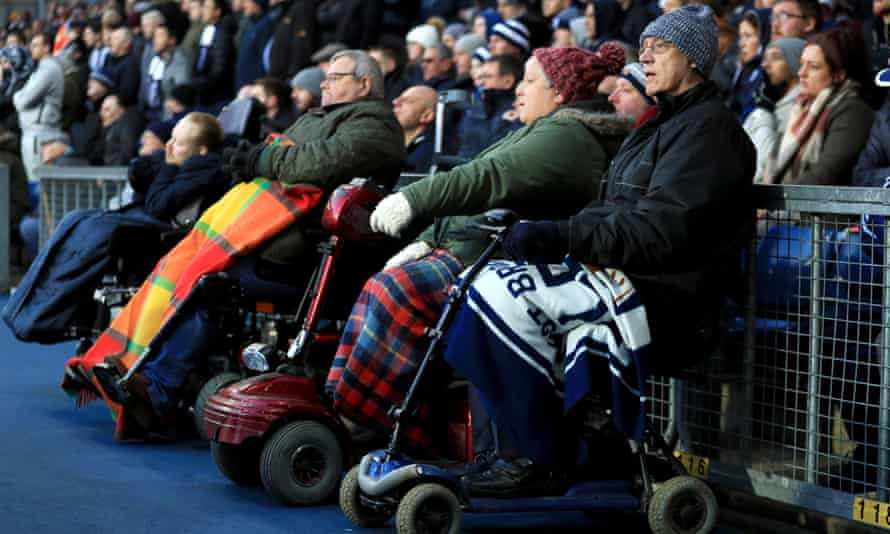 Disabled fans at the Hawthorns