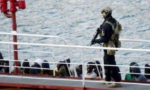 Armed forces on board El Hiblu 1