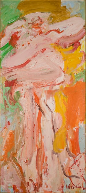 Woman Springs, 1966 by Willem De Kooning, born in Rotterdam, Netherlands, is another artwork removed from display