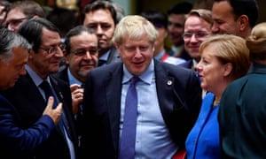 Boris Johnson at an EU summit last October.