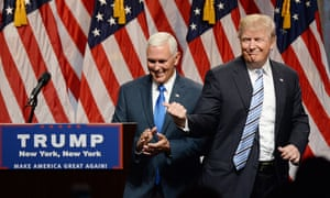 Emily's List called Trump and Pence 'a perfect storm of classic, out of touch, GOP extremism'.
