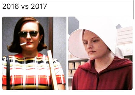 The meme of Moss as Peggy and Offred.