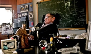 Professor Stephen Hawking in his office at the University of Cambridge in 2011.