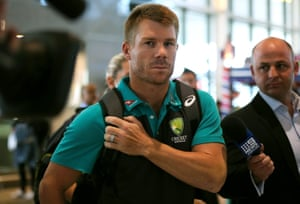David Warner and the squad arrive in Cape Town.