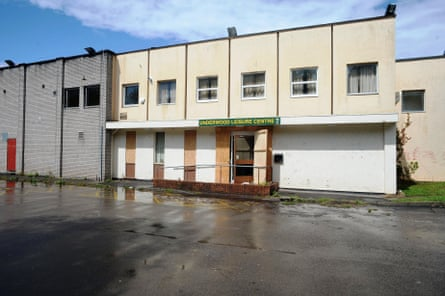 A former leisure centre in Newport, Gwent, where 4,000 cannabis plants were discovered by police.
