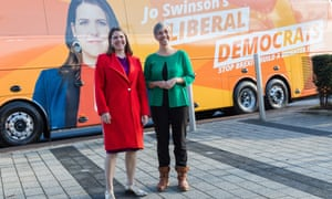 Jo Swinson with Daisy Cooper in St Albans
