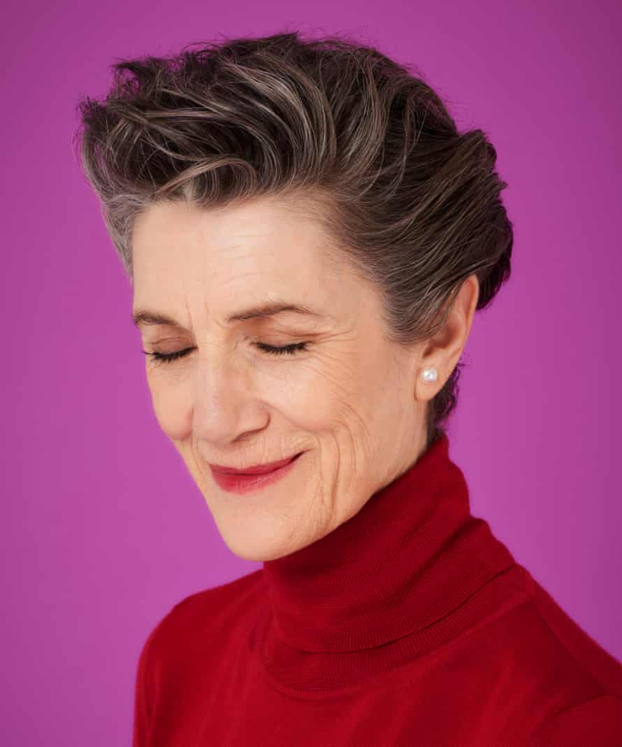'I'm talking to you like you're a shrink': Harriet Walter wears red knit by Maxmara at fenwick.co.uk.