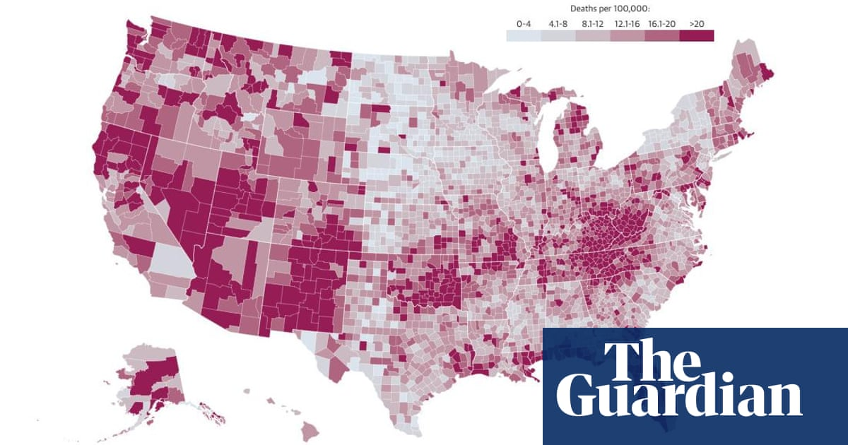Heroin Use By State Map.A Deadly Crisis Mapping The Spread Of America S Drug Overdose