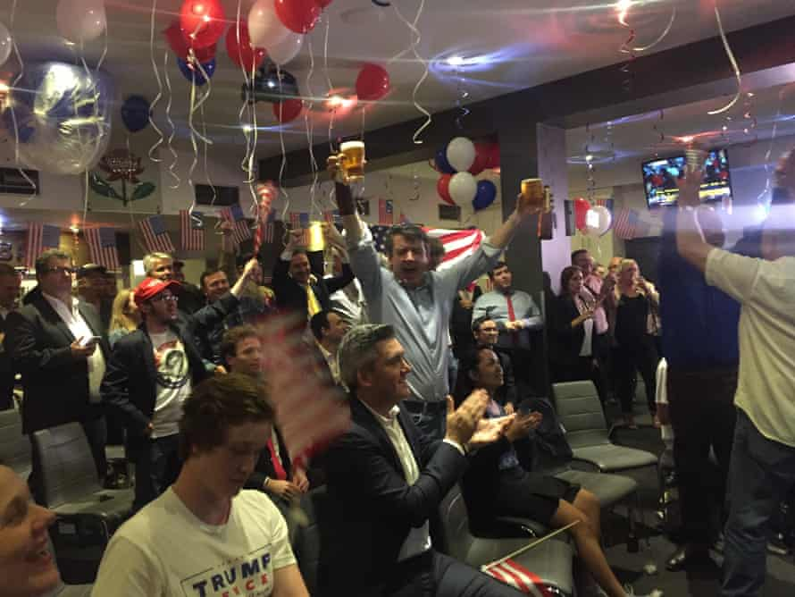 Trump supporters at the NSW Rugby Club in Sydney.