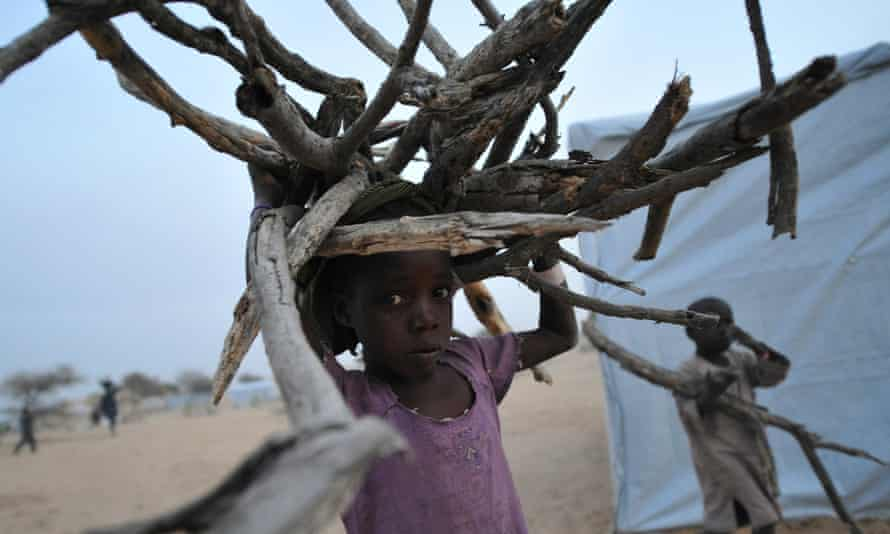 Nigerian refugee children at a camp in Baga Sola by Lake Chad for people fleeing Boko Haram.