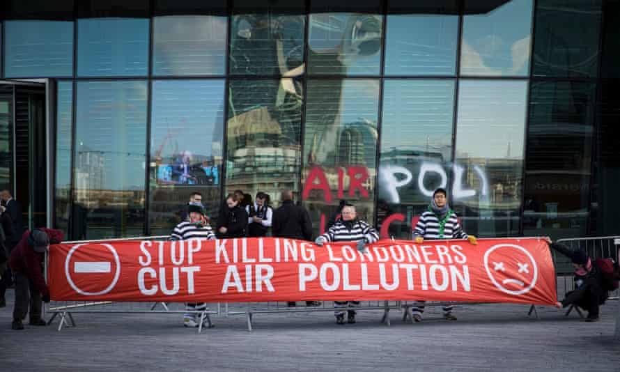 The protest group Stop Killing Londoners demonstrate outside City Hall