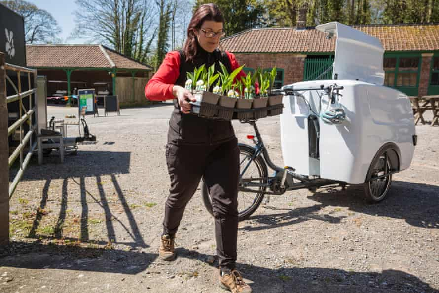 Cargo bike delivery at National Trust site