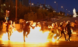 Clashes in Athens, Greece ahead of a key vote on a bailout deal