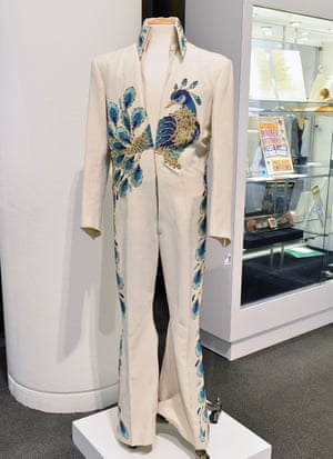 Elvis Presley's peacock jumpsuit, worn during concerts in 1974