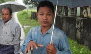 Inn Din village administrator Kyaw Soe Moe.