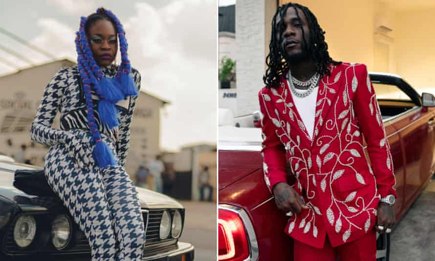 Sampa the Great and Burna Boy, two of the young artists on Kidjo's new album