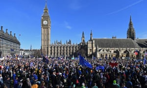 Demonstrators at a rally in Parliament Square