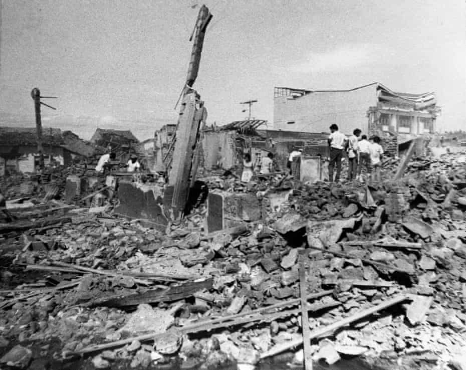 'It helped bring on the revolution' … damage from the earthquake that struck Managua in Nicaragua in 1972.