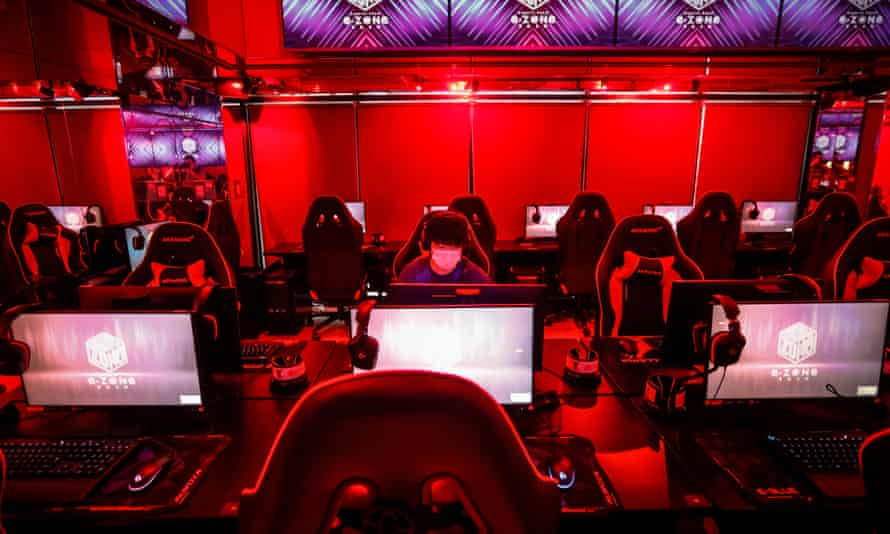 An esports-themed hotel in Japan. The study found no evidence that harm from playing violent games accumulates over time.