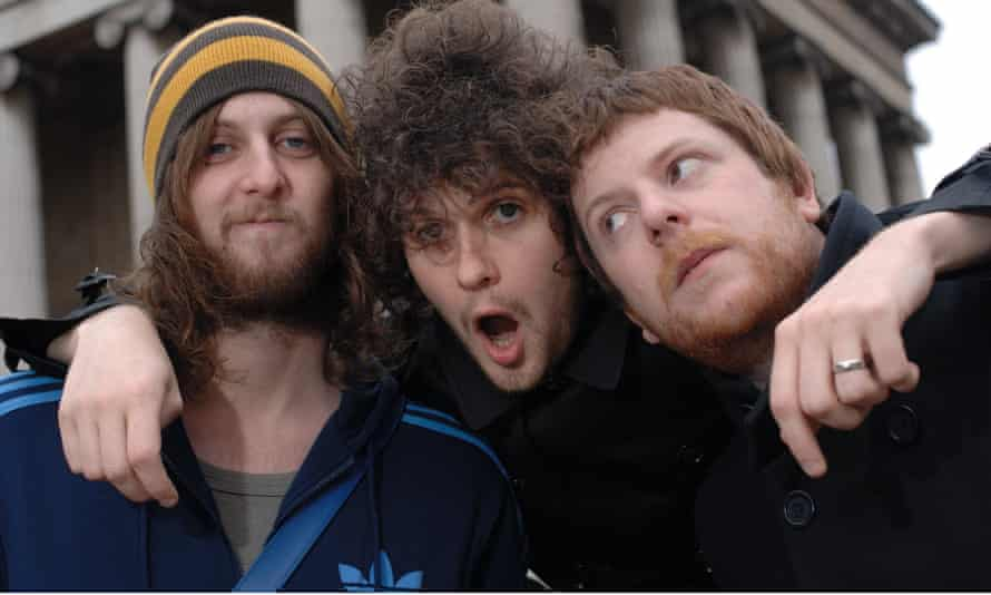 'Everybody just went into the studio and yelled and hollered'… the Fratellis in 2006, with Jon centre.