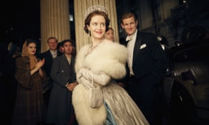 Claire Foy and Matt Smith in a scene from Netflix's The Crown. The show is nominated for an Emmy for outstanding drama series.