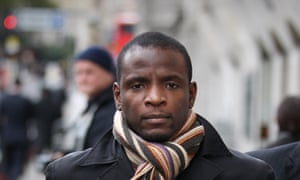 Duwayne Brooks at the Old Bailey after giving evidence in 2011