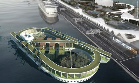A rendering of Floating Eternity, a proposed cruise ship-cum-cemetery.