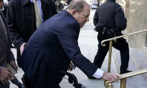 Harvey Weinstein arrives at Manhattan criminal court on 24 February.