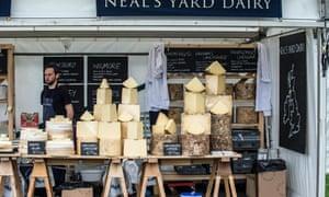 Neal's Yard Dairy cheese stall