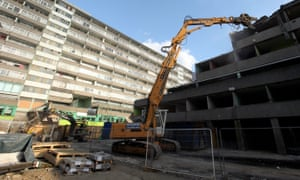 Demolition work under way on the Aylesbury estate in Southwark.