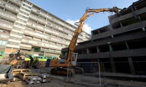 Demolition Of the Aylesbury council estate in Southwark.
