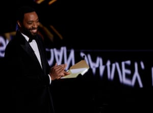 Chiwetel Ejiofor presents the best film award.