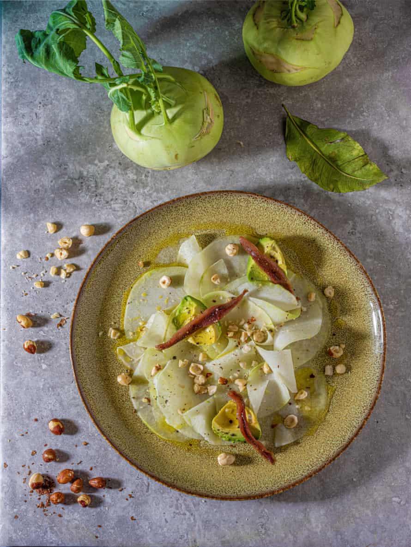 Claire Ptak's kohlrabi and avocado salad