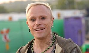 Keith Flint at Glastonbury festival.