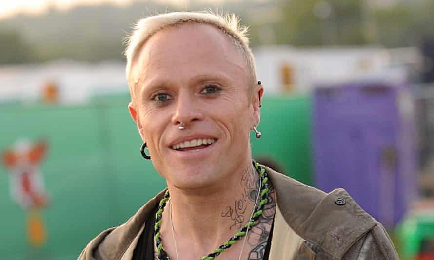 Keith Flint at Glastonbury festival.