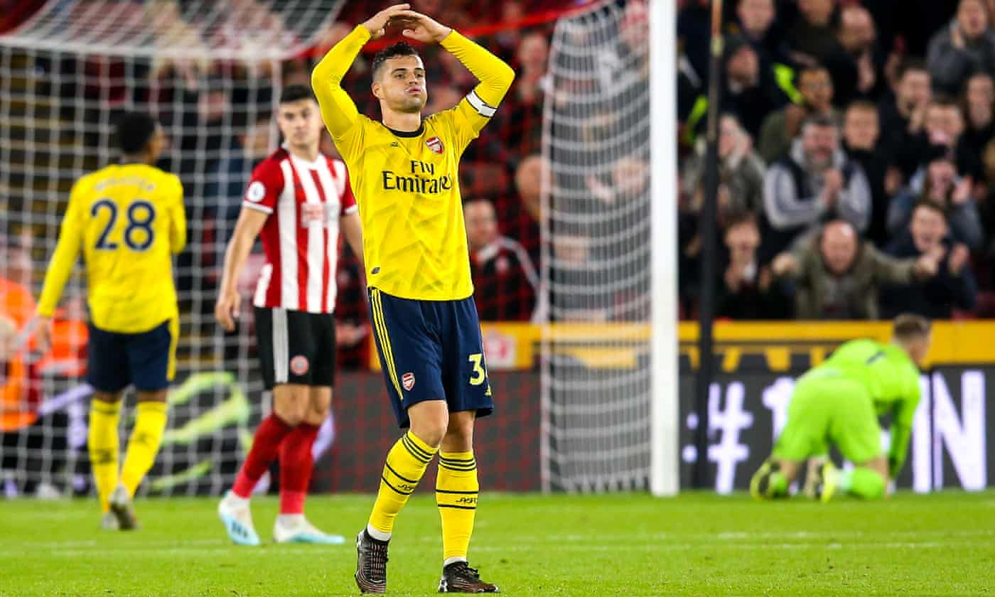 Xhaka rails against Evra's criticism that Arsenal lack mentality for away games