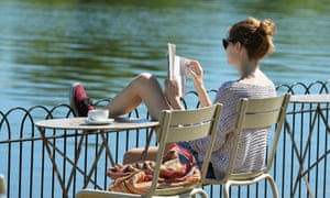 A woman reading in Hyde Park