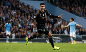 Alvaro Morata celebrates after scoring the sublime second goal for Juventus.