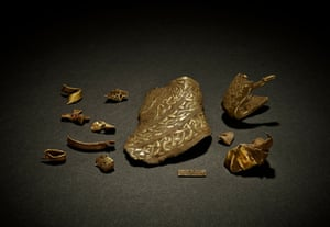 A group of objects from the Staffordshire Hoard