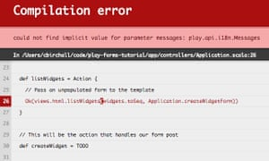 Play compilation error showing an implicit resolution failure in the controller